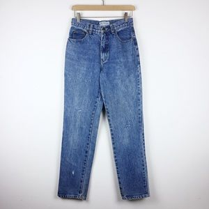 Vintage high waisted mom jeans lightly distressed